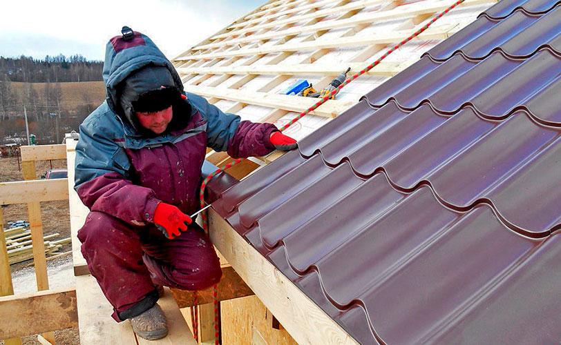 Обрешетка и монтаж кровельного материала крыши под ключ
