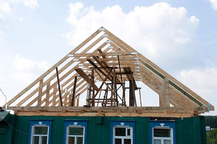 Строительство новой стропильной системы крыши