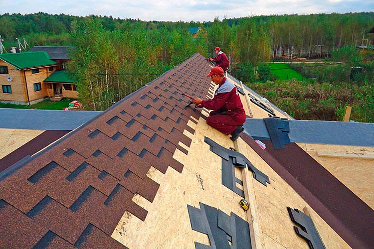 Монтаж гибкой черепицы (мягкой кровли) на сплошную обрешетку крыши